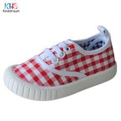 5b8193ed192 tennis adidas ·    Click to Buy    New Girls   Boys Plaid Canvas Shoes  Kindstraum 2017