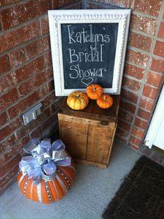 Rustic Fall Bridal Shower Decor