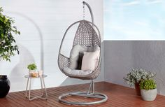 Brighton Hanging Egg Chair BRIEGGCHRK 1