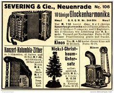 Original-Werbung/ Anzeige 1911 - GLOCKENHARMONIKA / KINOS / SEVERING - NEUENRADE  - ca. 90 x 75 mm