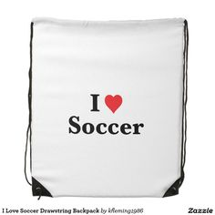 I Love Soccer Drawstring Backpack Drawstring Backpack, Soccer, Backpacks, My Love, Bags, Hs Football, My Boo, Handbags, Futbol