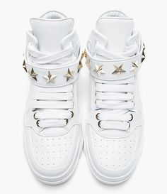 Givenchy White Leather Star-Detail Sneaker  Creative Boys Club » Givenchy www.creativeboysclub.com/tags/givenchy‎
