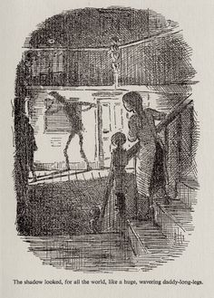 Daddy-Long-Legs by Jean Webster illustrated by Edward Ardizzone My Daddy Long Legs, Jean Webster, Edward Ardizzone, Tokyo Ravens, Old Wallpaper, Fan Art, Ghost In The Shell, Children's Book Illustration, Painting Inspiration