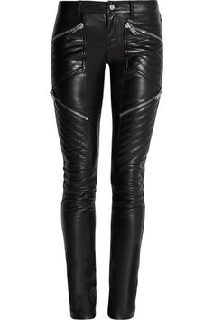 Nothing says Spring like Leather Moto Pants! Equal parts edgy and modern to get your fashion juices flowing! These are by Saint Laurent!