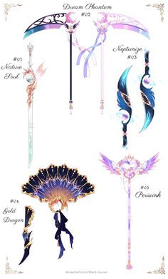 Anime Weapons, Fantasy Weapons, Fantasy Character Design, Character Art, Character Costumes, Character Outfits, Dessin Animé Lolirock, Armas Ninja, Drawing Anime Clothes