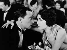 """Buster Keaton & Dorothy Sebastian in """"Spite Marriage"""", 1929. The second film Buster made for MGM and his last silent film. Sebastian's dress is to die for, but I couldn't find any images of the entire dress. She has a great scene at the restaurant here too."""