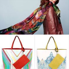 Echo Scarves and Reversible Totes. Start Spring in Style!