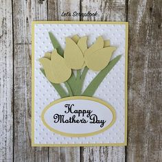 Mother's Day Card, Mothers Day Card, Mothers Day, Flower Card, Greeting Card, Happy Mother's Day, Card For Mom, Mother's Day Gift, Handmade