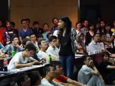 One of our University Recruiters presenting at the Chinese Academy of Science on Sep 5th, 2012