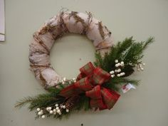 #Rustic #birch #Christmas #Wreath custom made by our designers. Be #DelightedAtStauffers in our home & gift boutique.