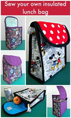 Insulated lunch bag pattern - POTM