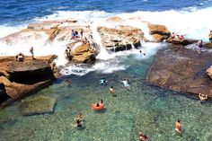 Coogee - Giles Baths rock pool  Though there are 4 ocean baths around Coogee Bay, this was the only rock pool developed on Coogee's northern headland.