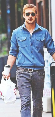 Shop ryangosling, jeans, outfit, shirt on SeenIt - 41632