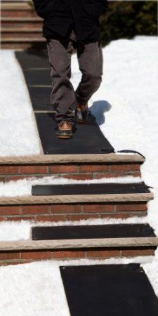 Connect walkway mats and stair mats together to melt snow and ice off your walkways and stairs.