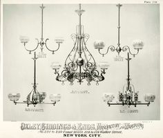 victorian light fixtures | Real period lighting as shown on this 'trade card' from Oxley ...