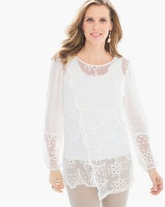 Chico's Statement Lace Tunic #chicos