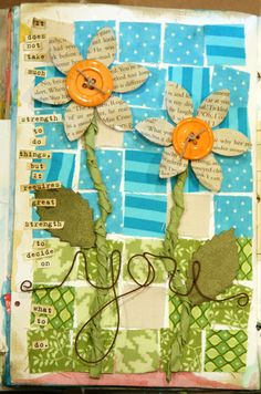 Love the flowers but I'm not craft enough to do this so I need to find a genius scrapbooker who also likes this page to recreate it for me since she knows my birthday and I like daisyesque flowers and I repinned this from her pins...