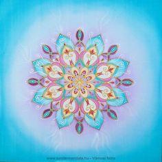 Fohász selyem mandala, 41 x 41 cm - Tündérportéka webáruház