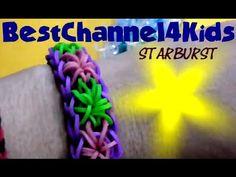 STARBURST Rainbow Loom Bracelet Tutorial rainbow loom starburst on How To Make Friendship Bracelets! #makingbracelets