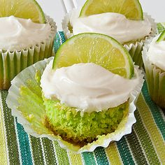 I made these in mini muffin tins, because they are fairly rich, the smaller version was perfect for a ladies luncheon! Just Desserts, Delicious Desserts, Dessert Recipes, Cupcake Recipes, Cupcake Ideas, Colorful Desserts, Cupcake Pictures, Key Lime Cupcakes, Love Cupcakes
