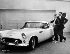 Audrey Hepburn and Mel Ferrer with her T Bird 1