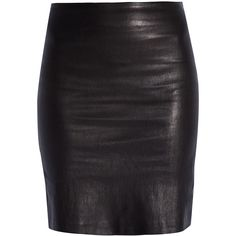 THE ROW Leather Pencil Skirt (£665) ❤ liked on Polyvore featuring skirts, bottoms, saias, faldas, leather skirt, party skirts, knee length leather skirt, leather pencil skirt and knee length pencil skirt