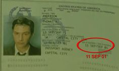 The passport– in Neo's file– shows an expiration date of '11 SEP 01,' seemingly now an eerie coincidence found in the smallest of details. The Matrix released in 1999..