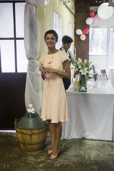 wedding day;Max Mara dress , Louboutin shoes