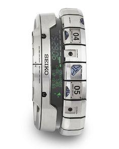 futuristic watch, seiko, cyberpunk gadget,