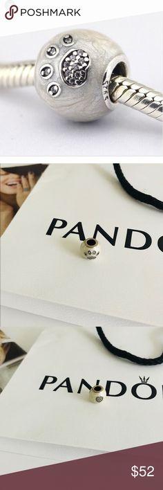 """I Love My Pets"" Silver Pandora Charm ""I Love My Pets"" Silver Pandora Charm ""Retired"" Pandora Jewelry"