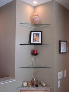 Bathroom Corner Shelf Ideas. Estantes De Cristal Glass Shelves For Bathroomglass Corner