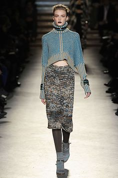 Missoni the masters of modern day knitted fashion couture , it is their art en trend style and texture for autumn winter 2014 edgy scandi chic