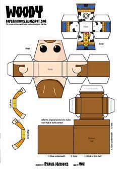 Kevin, auteur du site Paper Minions, est un nouveau venu dans le monde des… Disney Diy, Disney Crafts, Disney Pixar, Origami Paper, Diy Paper, Theme Animation, Imprimibles Toy Story Gratis, 3d Templates, Printable Templates