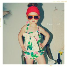 Everything Rosie Summer Bow Romper  from Fleur and Dot via Etsy.