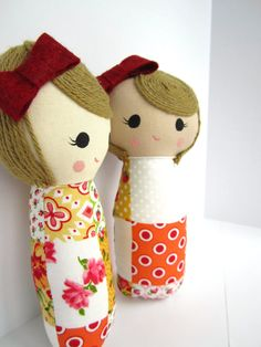 Mini Mend Cloth Doll Ready to Ship by MendbyRubyGrace on Etsy, $18.00