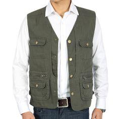 6fedb225ec Men's Fishing Vest Outdoor Mesh Fly Fishing Vest Photography Vest with  Detachable Hood Waistcoat Safari Vest