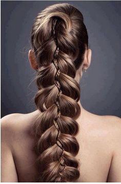Hair fashion such a unique braid