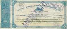 SOC. IT. PER LE STRADE FERRATE DEL MEDITERRANEO - #scripomarket #scriposigns #scripofilia #scripophily #finanza #finance #collezionismo #collectibles #arte #art #scripoart #scripoarte #borsa #stock #azioni #bonds #obbligazioni