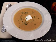 Creamy Pumpkin and Red Lentil Soup