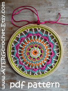 Crochet pattern EMBROIDERY RING by ATERGcrochet by ATERGcrochet