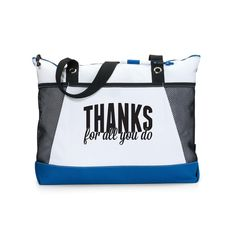 Thanks for All You Do Motivational Tote Gift Set from Successories Gift Sets. Now you can get our sport tote with our spiral. Storing Water Bottles, Employee Appreciation Gifts, Employee Recognition, Wet T Shirt, Military Discounts, Coordinating Colors, Corporate Gifts, Mother Day Gifts, You Bag