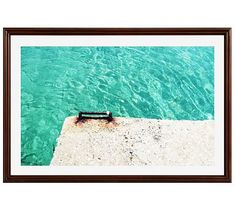"""Dive In Framed Print by Lupen Grainne, 42 x 28"""", Ridged Distressed Frame, Espresso, Mat"""