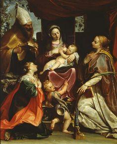 Madonna con Bambino e santi. 1586. Parma. Galleria Nazionale