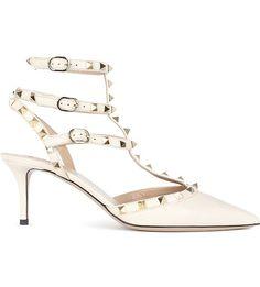 VALENTINO - Rockstud 65 leather heeled courts | Selfridges.com