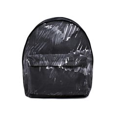 Acne Studios Olov bomb black marker is a shiny nylon backpack with minimal stitching.