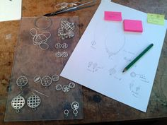 Work in progress April 2014 Diana Greenwood #process #creative #muckingaboutwithmetal
