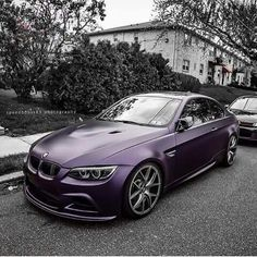 BMW E92 M3 purple