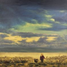 Big Sky, Loneliness, Chinese, Artists, Painting, Solitary Confinement, Artist, Painting Art, Paintings