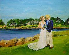 Custom painting - weddings. Ann Gorbett Palette Knife Painting