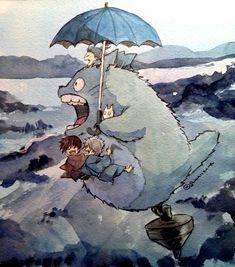 Link Art, Girls Anime, Studio Ghibli, Character Design Animation, Anime Crossover, Anime Films, Manga, Totoro, Anime Art